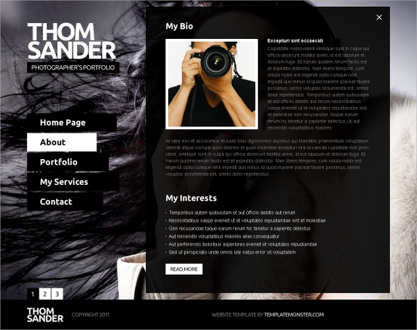 free fullscreen website template photography