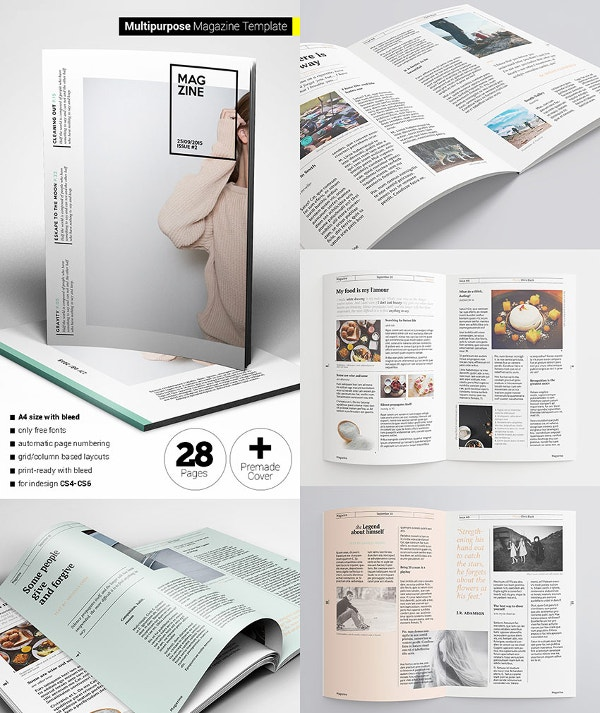 30 creative magazine print layout templates for free for Magazine layout templates free download