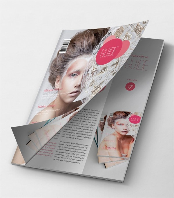 Creative Guide Magazine Mockup Cover Opening