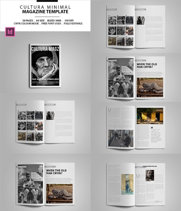 31 creative magazine print layout templates for free free