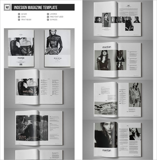 31 creative magazine print layout templates for free free fashionable indesign magazine template maxwellsz
