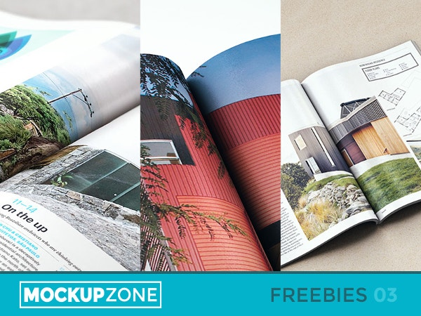 Free - Magazine Mock Up PSD Files