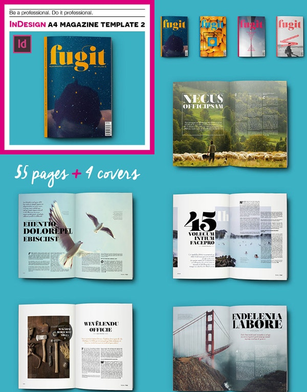 Fugi InDesign A4 Print Magazine Template