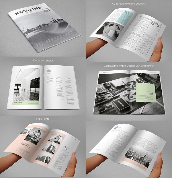 modern magazine multiple print design layouts