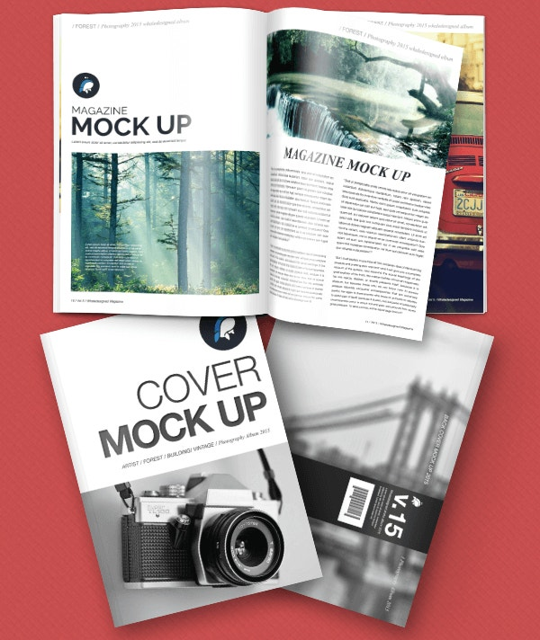 New Creative Free Mockup : Magazine Template