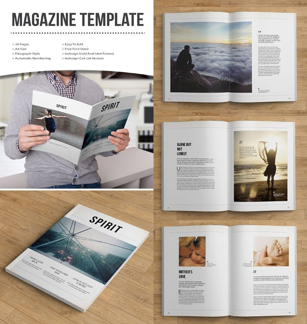 Simple, Creative Magazine Template Design