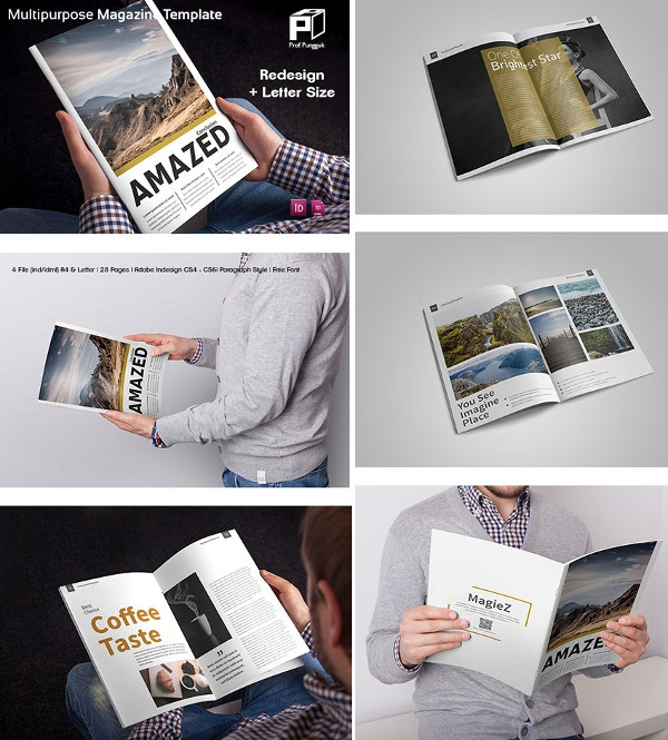 40+ Creative Magazine Print Layout Templates for Free ...