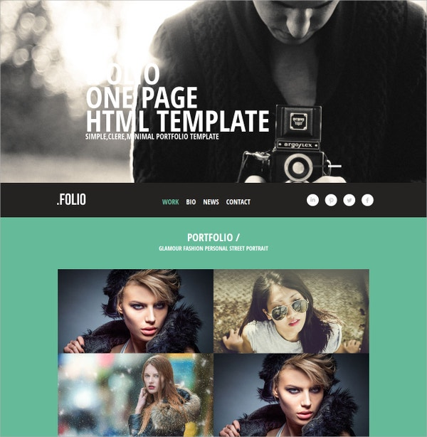 free photographer portfolio responsive website template