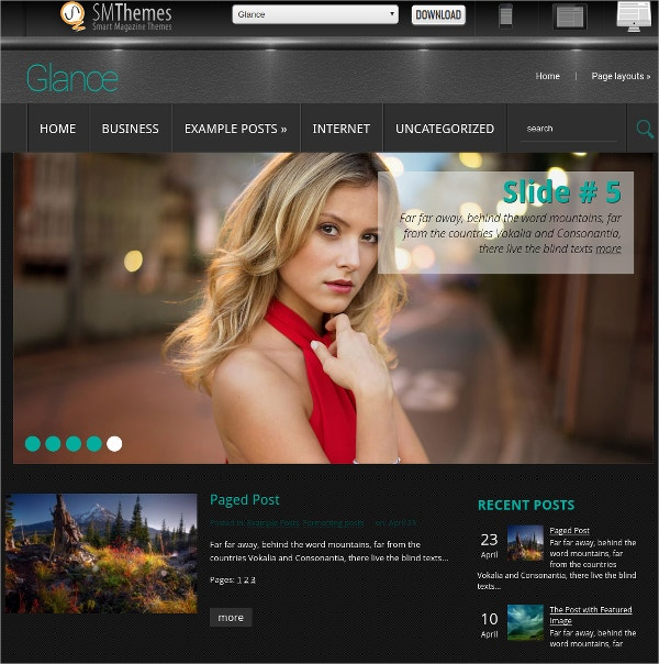 free simple elegant photography website theme