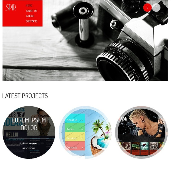 free photography html5 website theme for portfolio