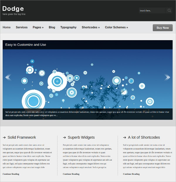 Business Portfolio WordPress Website Theme $35