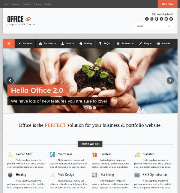Office Responsive Business Website Theme $49