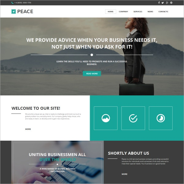 Business Moto CMS HTML Website Template $139