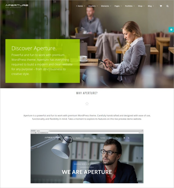 Creative Business WordPress Website Theme $59