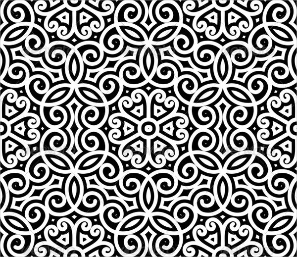 vintage black and white pattern1