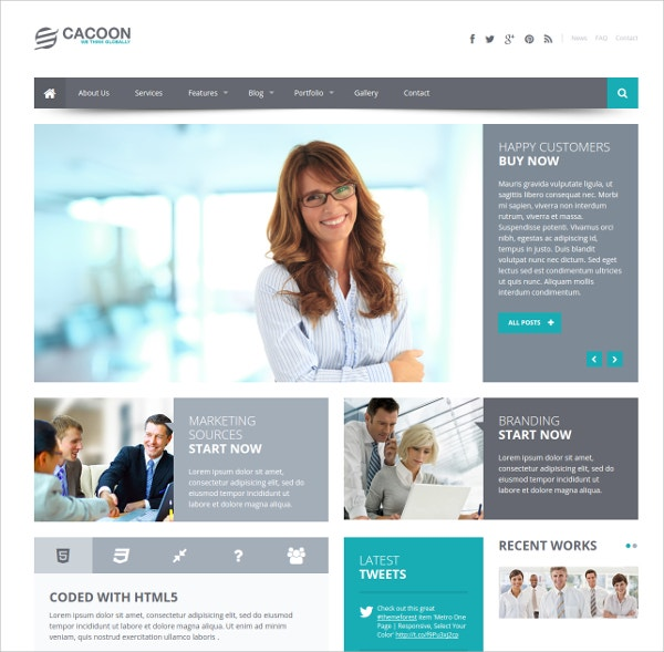 Responsive Business Website Theme $17