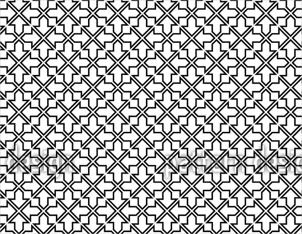 moorish black and white pattern