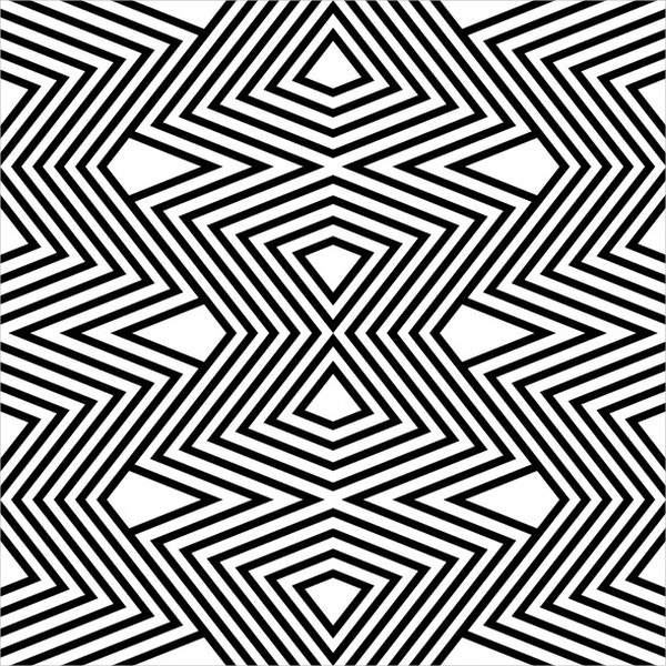 black and white zigzag pattern