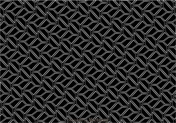 Black And White Retro Pattern