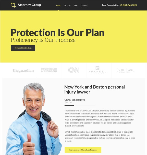 Law Firm Business Responsive Website Template $69