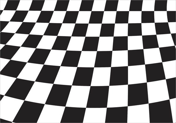 Black & White Checkerboard Pattern