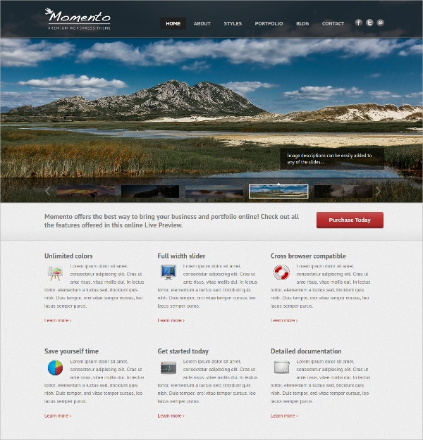 Photography And Business Website Theme $44
