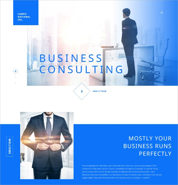 Corporational Business Website Template $69