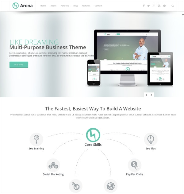 Creative Business Website Theme $17