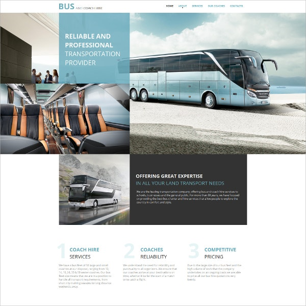 Transportation Business Moto CMS HTML Website Template $139