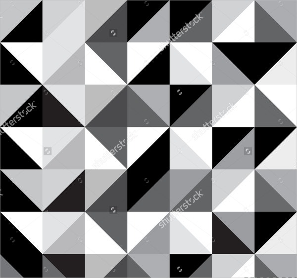 Black & White Triangle Pattern