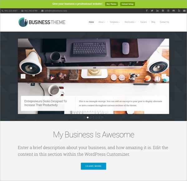 Clean & Corporate Business Website Theme