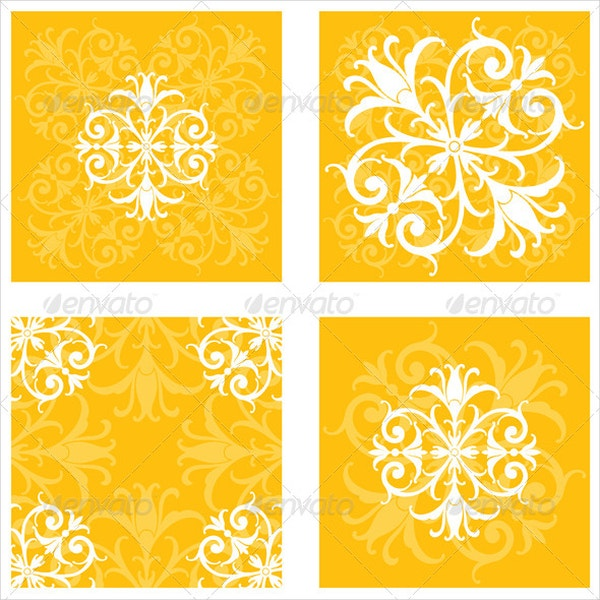 Square Floral Tile Patterns