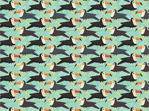 Toucan Tile Pattern