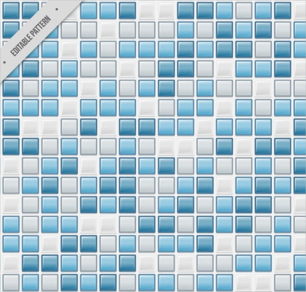 Blue Squares Tile Pattern