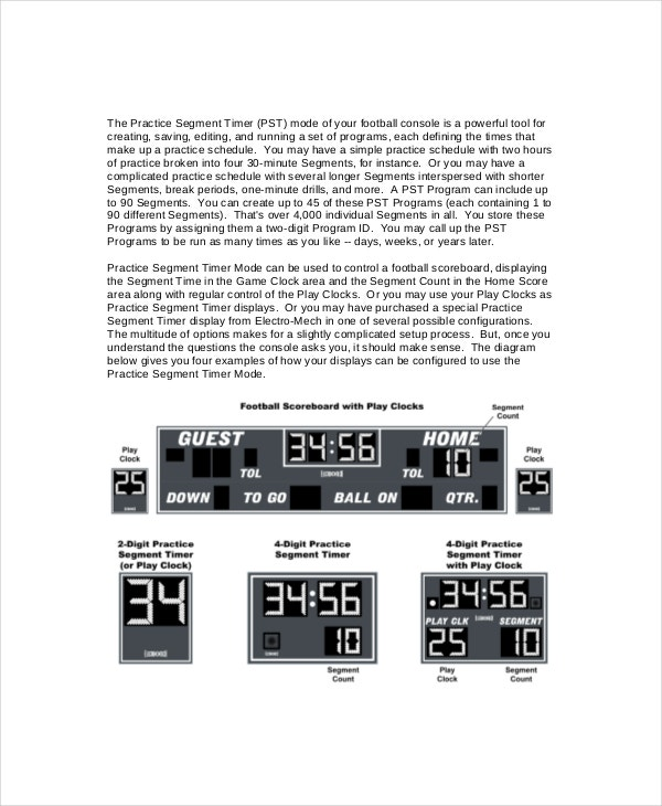football scoreboard software