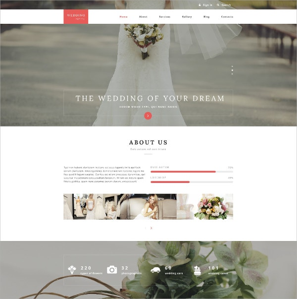 Wedding Agency Drupal Website Template $75