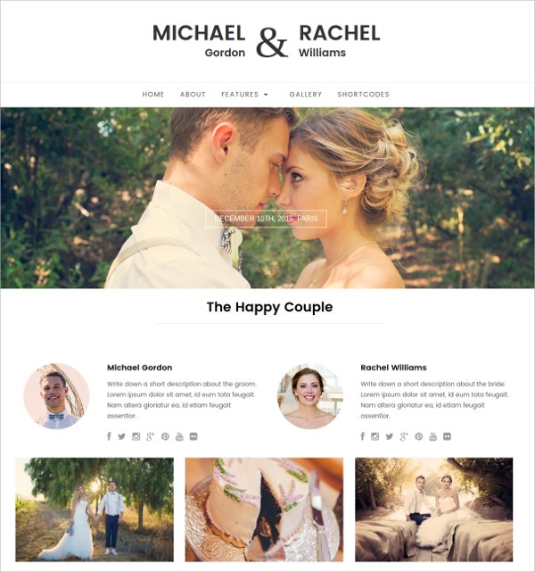 responsive wordpress website wedding love theme 49