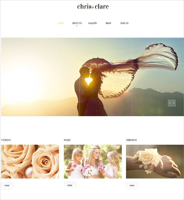 Wedding Album Moto CMS HTML Website Template $139