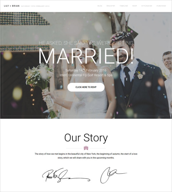 39 Wedding Website Themes Templates Free Premium Templates