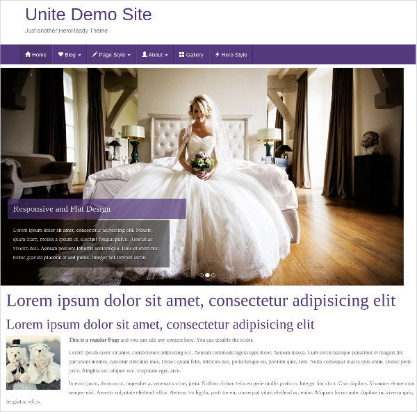 free blog wedding wordpress website theme1