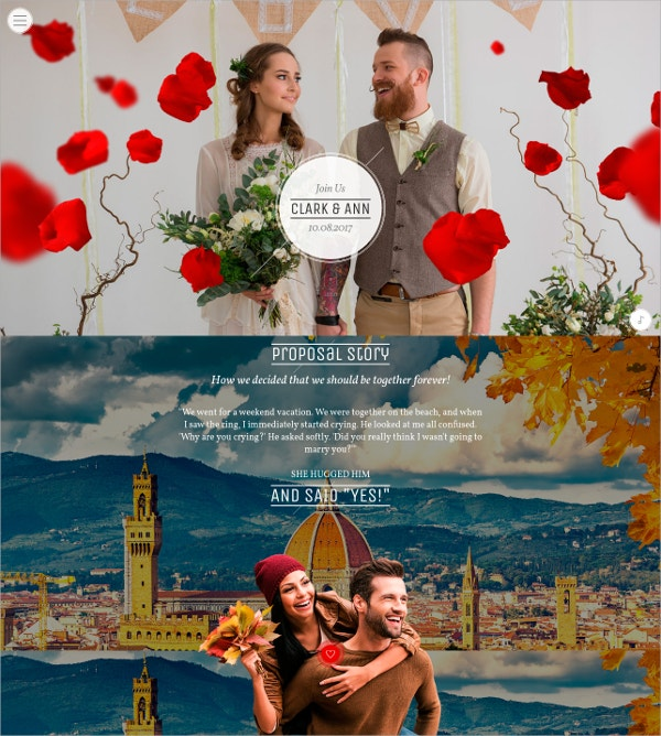 Responsive Wedding Events Website Theme $49
