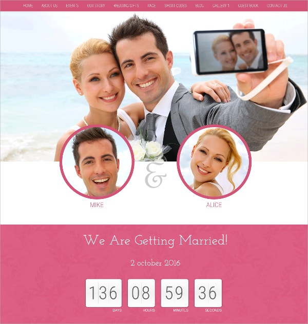 WordPress Wedding Photo Gallery Theme $49