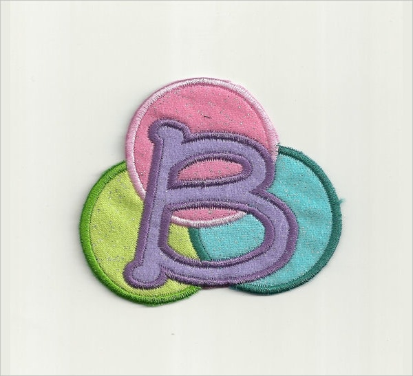 bubble letter patch