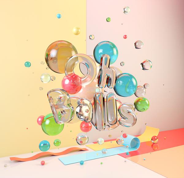 CG Typography - Oh Balls