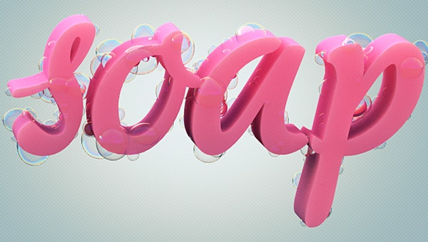 soap bubble letters
