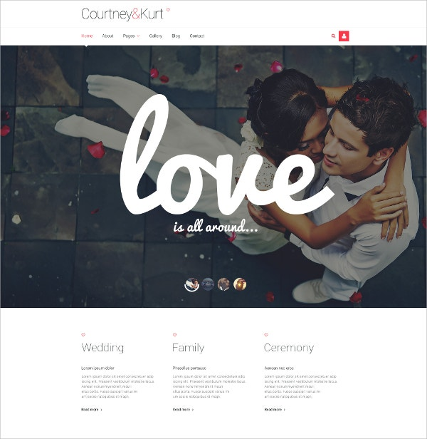 Wedding Responsive Joomla Website Template $75