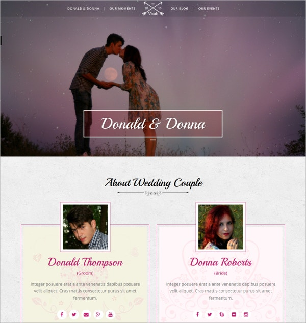 Wedding Photography WordPress Website Theme $49