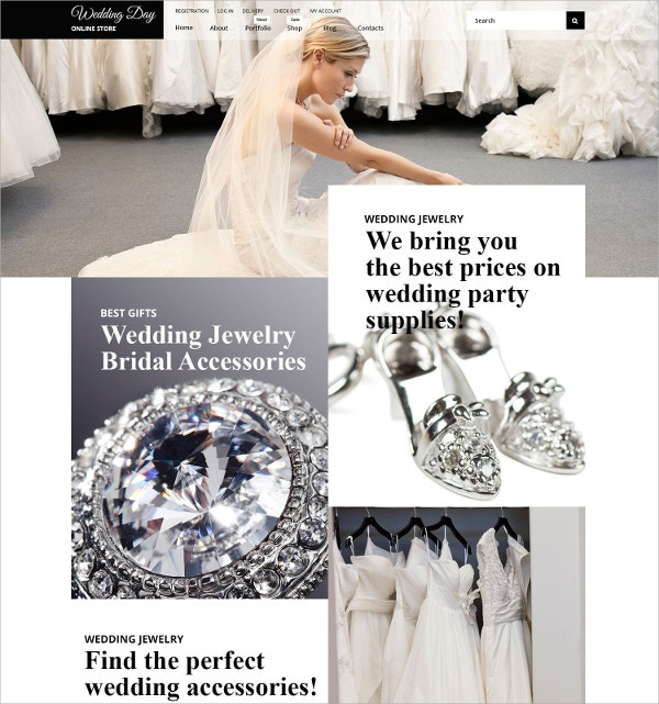 Wedding WooCommerce Website Theme $114