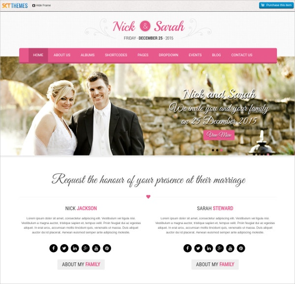find premium professional wedding wordpress theme1