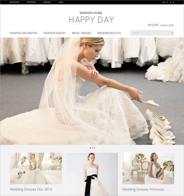 Wedding Store Magento Website Theme $179